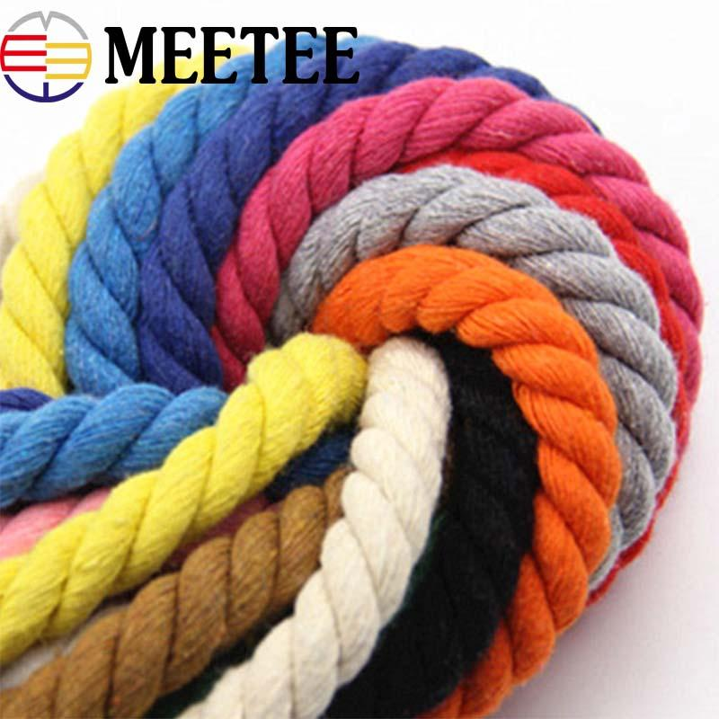 2M 20mm Eco-Friendly Cotton Cord High Tenacity Twisted Cotton Rope Home Bag  Decorative Ropes DIY Home Textile Accessories Craft