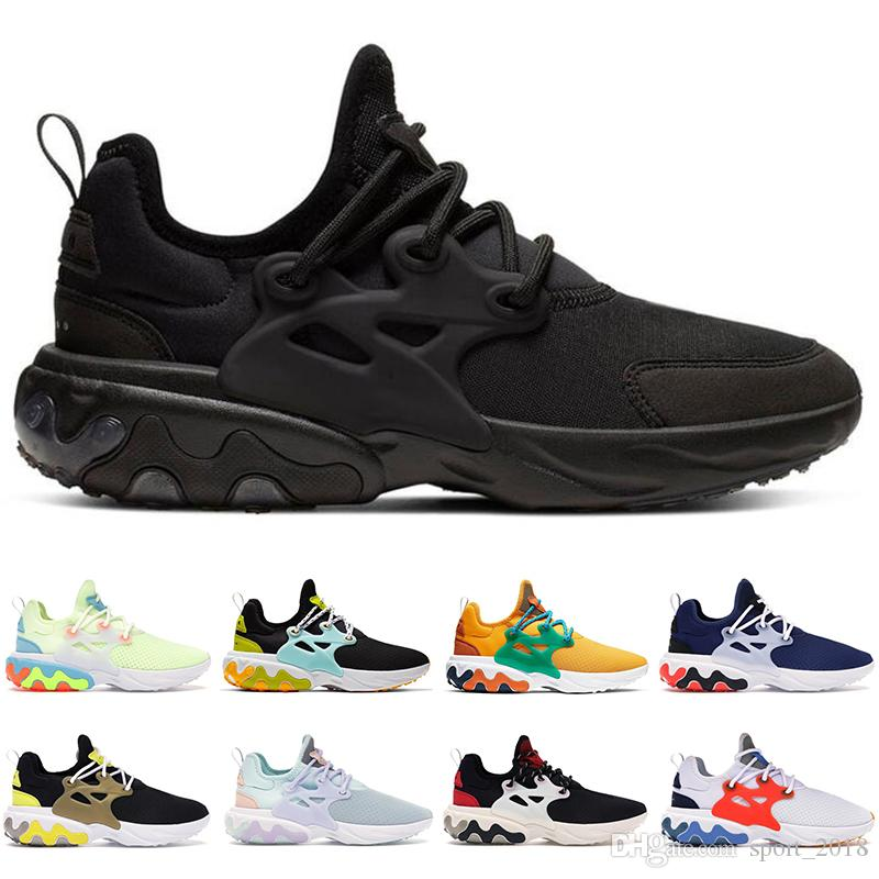 Nike Hot Presto React Chaussures de course hommes femmes DHARMA Triple Black Barely Volt respirant Hyper Royal designer mens formateurs baskets de sport