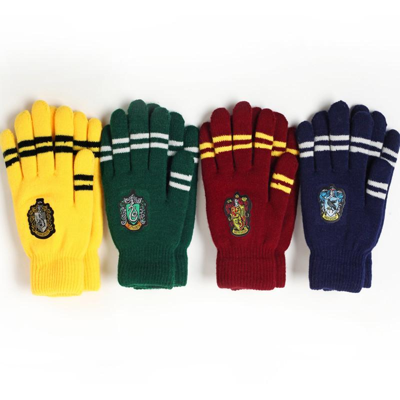 Harry Potter Hogwarts School Magic Wintter Gloves Toys Children Halloween Party Show Anime Figure Toy Kids Birthday Gift Jouet