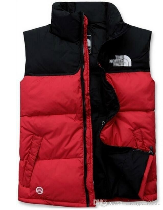 Men's Winter Outdoor Heavy Coats north Down Vest outdoor Lightweight Jackets mens Water Repellent Puffer face Vests