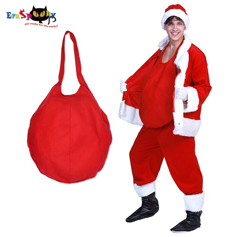 Christmas Zombie Costume.Eraspooky Red Mens Santa Claus Belly Cosplay Christmas Costume Adult Pot Belly Father Christmas Carnival Party Accessories