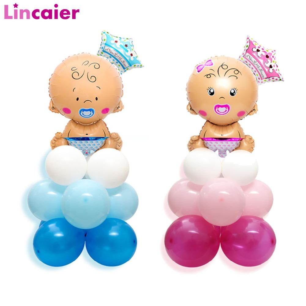 Baby Shower Party Balloons Decorations Its A Girl Boy Babyshower Supplies Oh Baby Gender Reveal Large Nipple Bottle Feet