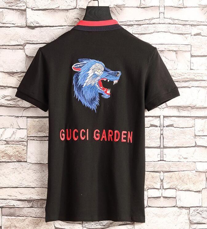 3740a0b7bd45 Men s Casual Striped T-shirt 2019new Fashion Lapel POLO Shirt Luxury  Designer Brand Embroidery Printing Cotton High-quality T-shirt 267 2019  Luxury Brand ...
