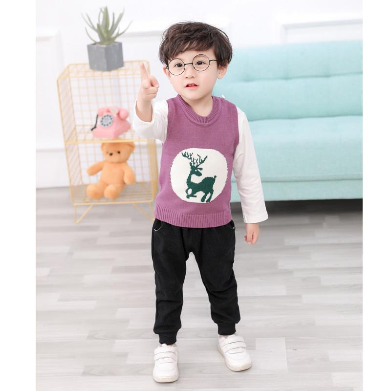 0-4 year High quality boy girl clothing set 2019 new spring cute casual kid suit children baby clothing vest+T-shirt+pant 3pcs