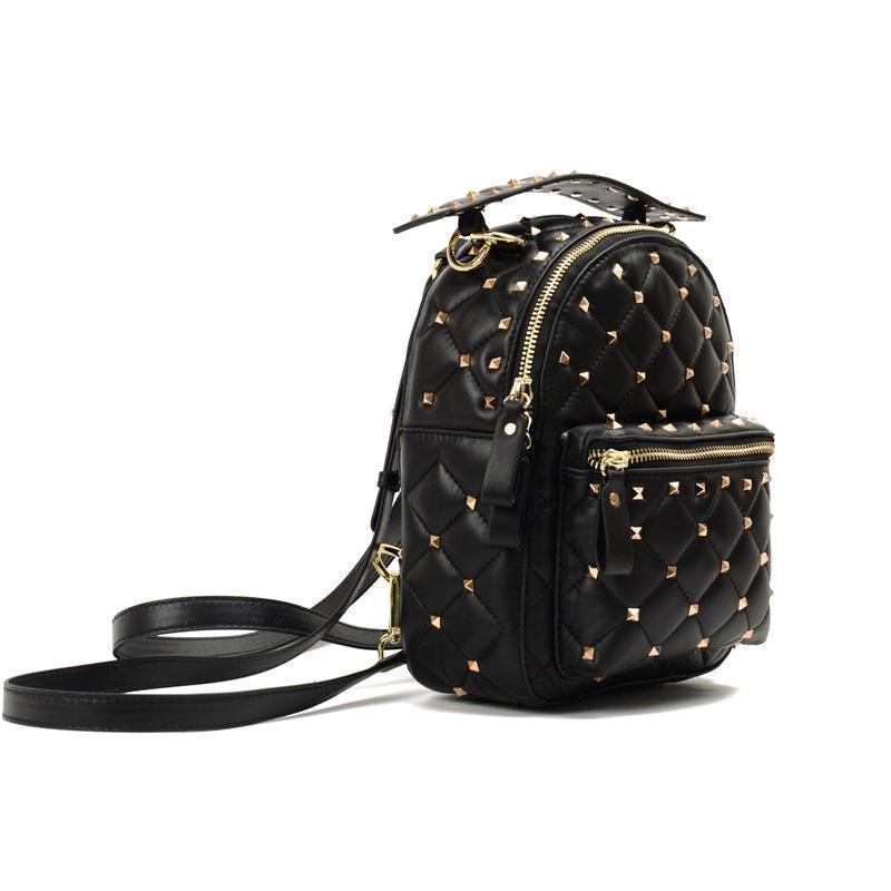 23b5b0827e902 Satın Al Bayan Sırt Çantası Güzel Moda Kadınlar Gerçek Deri Cep Koyun  Perçin Sırt Çantası Simli Sırt Çantaları Mini Sırt Paketi Kızlar, $95.56 |  DHgate.