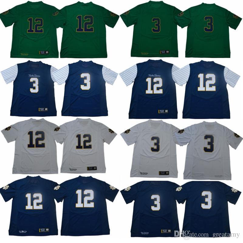 innovative design 00a09 87749 2019 Joe Montana 12 Ian Book Jersey Norte Dame Fighting Irish College  Stitched Football Jersey