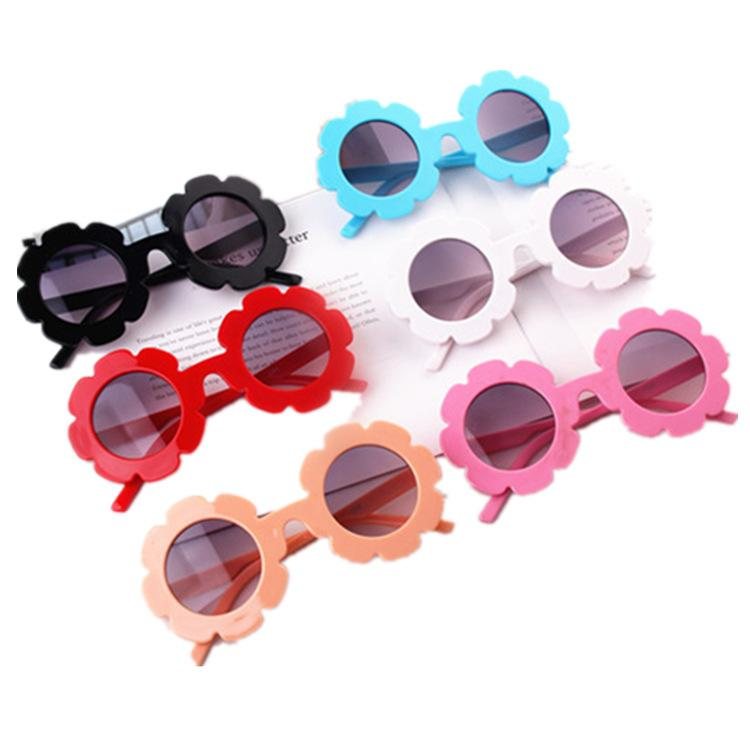 Girls Flower Sunglasses Children Round Flower Sun Glasses Eyewear Summer Toddler Kids Sun Glasses Boys Girls Fashion Sunglass GGA2204