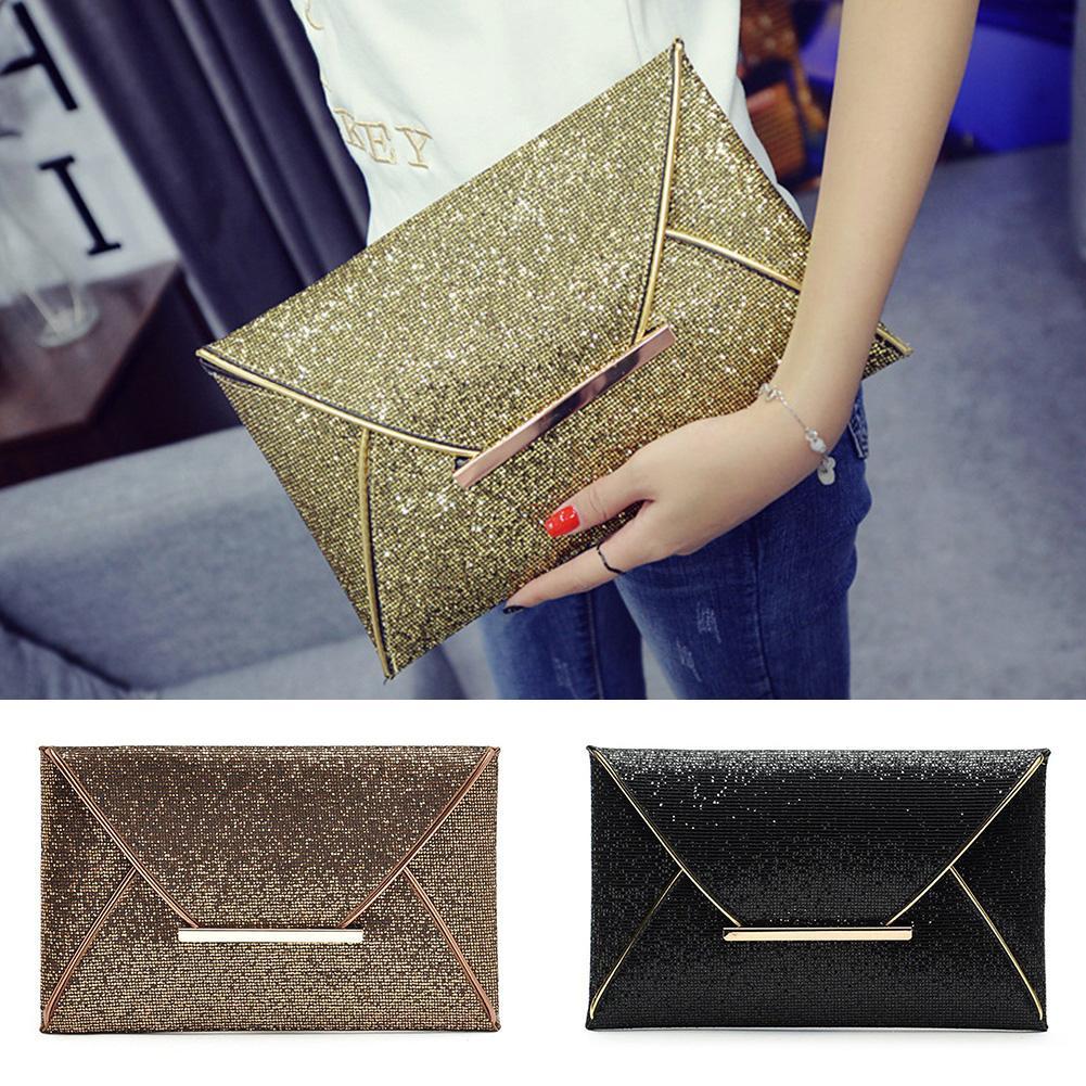 Ladies Envelope Handbag Fahion Girls Clutches Women Glitter Sequin ... 3dadd7bcb2c5