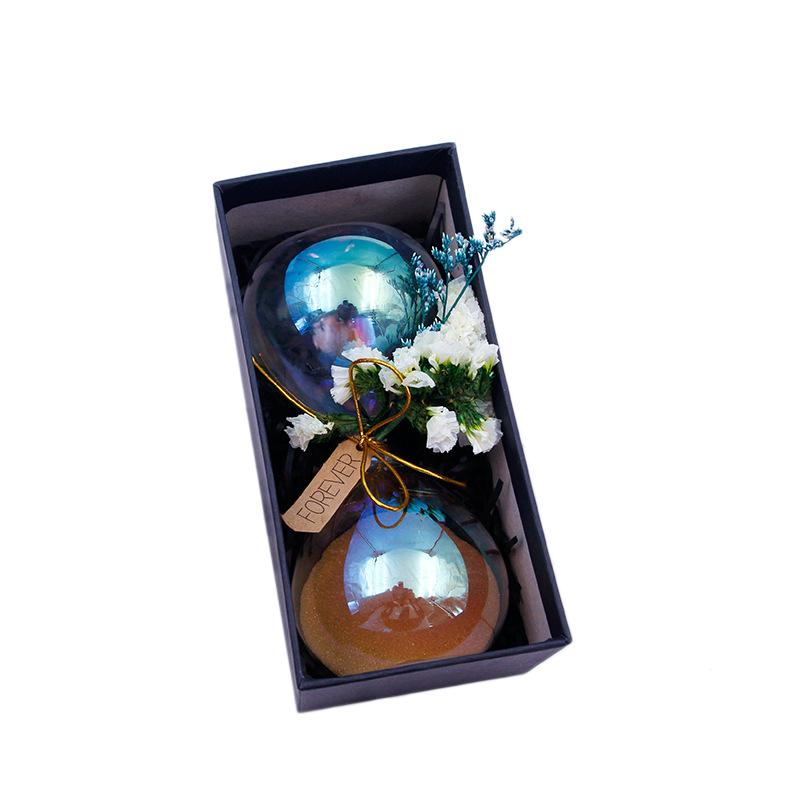 Originality Dried Flowers Gift Box Hourglass Lover Boxing Gifts For Girls Gift Student Desktop Decoration Arts And Crafts