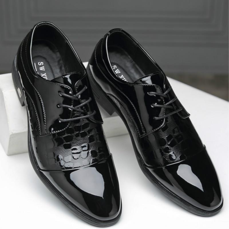 ZVQ 2019 new high quality patent leather women shoes low square heel lace up square toe black