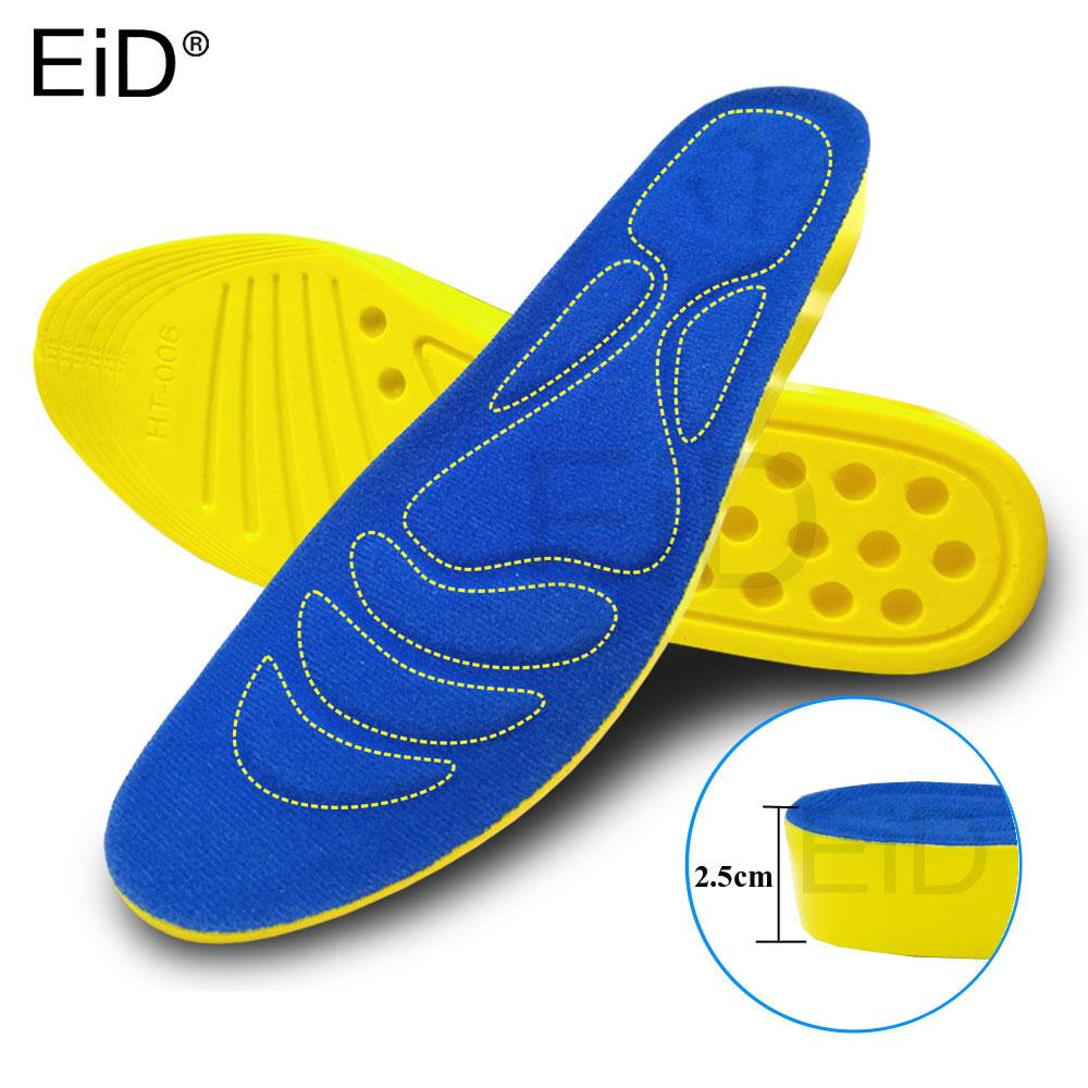 EiD 2.5cm Height Increase Insole Cushion Height Lift Adjustable Cut Shoe Heel Insert Taller Women Men Unisex Quality Foot Pads