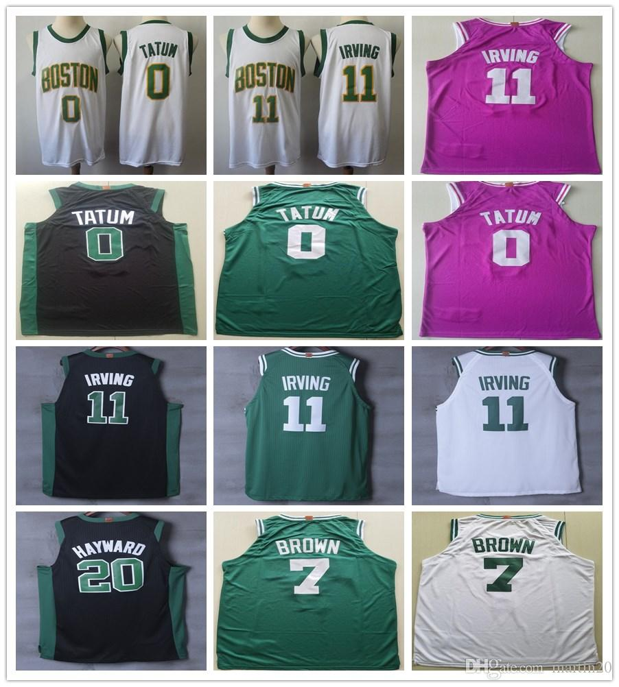 dae21bf4f New City Edition White Gold 11 Kyrie Irving Jersey Black Green Pink ...
