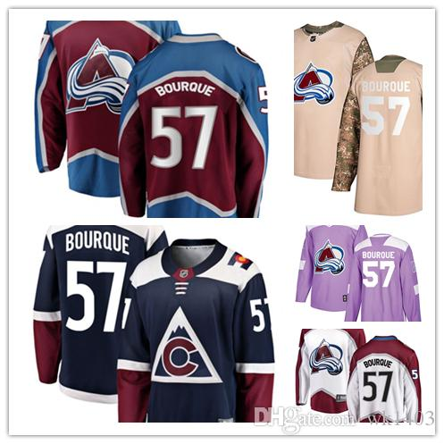 09bdc57e ado Avalanche Jerseys #57 Gabriel Bourque Jersey Hockey Men Women Youth  Burgundy Red Home White Away Navy Blue Alternate Jerseys From Wk1403, ...