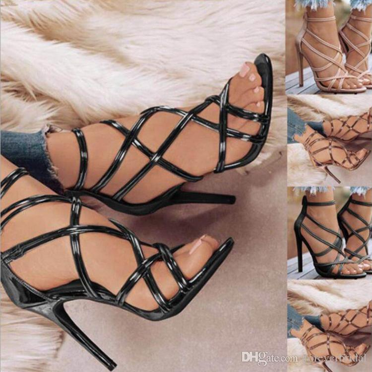 a243ff3b2c3 Fashion Women Spring Dress High Heel Shoes Sexy Thin Heel Open Toe Designer  Sandals Leather Wedding Summer Shoes Heels High Heels From Foreverbridal