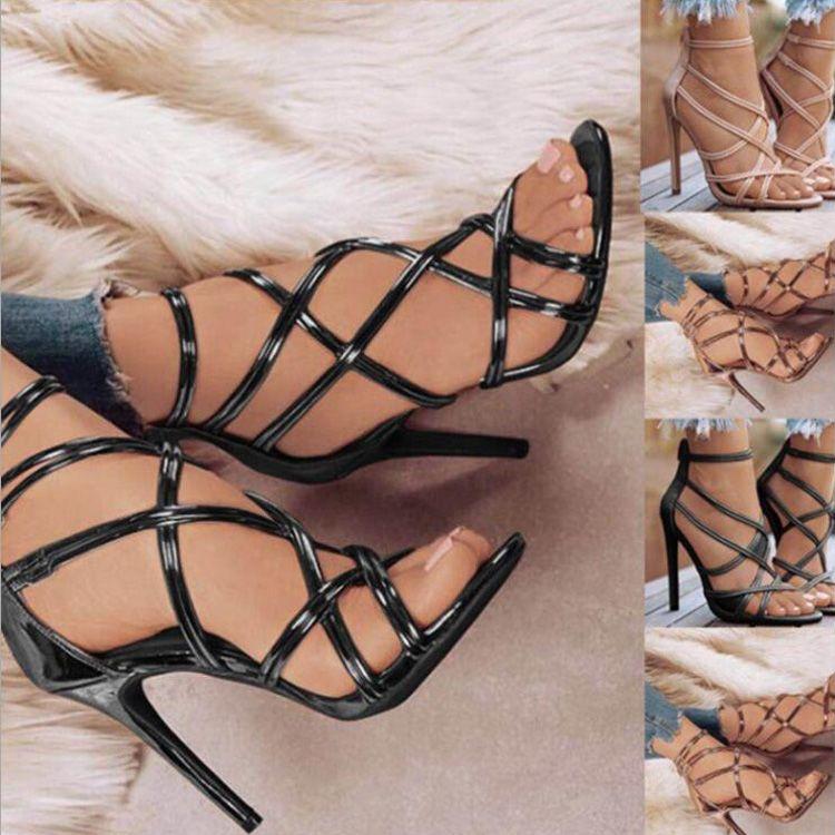 4d8a913e314056 Acheter Mode Femmes Printemps Robe Chaussures À Talons Hauts Sexy Talon  Mince Bout Ouvert Designer Sandales En Cuir De Mariage D'été Chaussures De  $28.2 Du ...