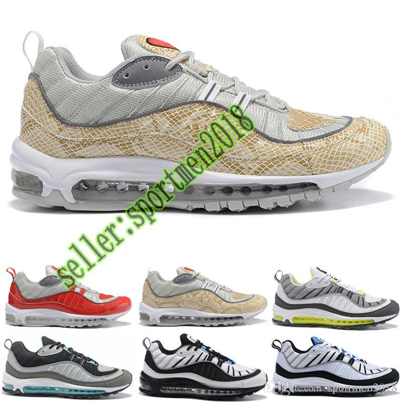 f7423c99c94 ... Air Max Airmax 98 SHOES MEN WOMEN Nouvel Arrivé 98 Gundam Tour Running  Chaussures Sneakers Anniversaire 98 OG Lumineux NOUVEAU 98 S Authentique  Pas Cher ...