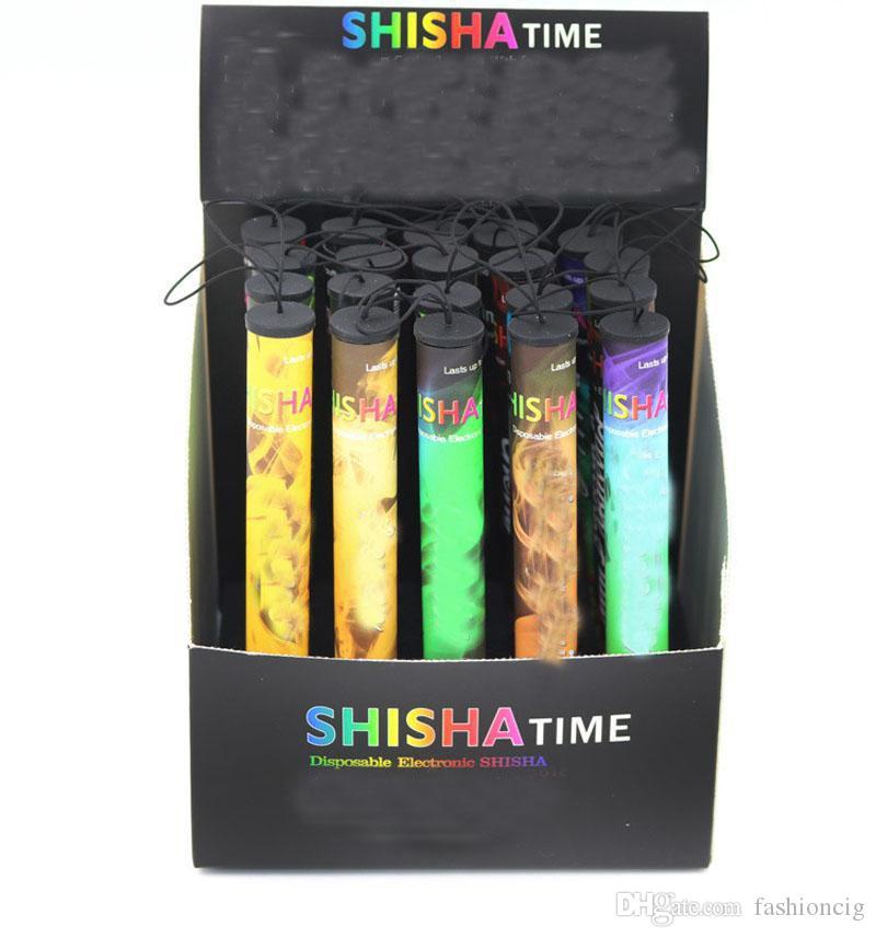 Shisha pluma Eshisha electrónico desechable cigarrillos shisha tiempo CIGS 500 inhalaciones 41 tipos cachimba pluma DHL EC029