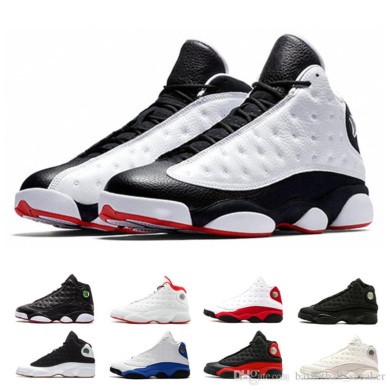 low priced 7d96f eea22 New 13 He Got Game men basketball shoes hot top Low-Chutney Black Cat DMP  bred Playoffs Chicago Pure Money sports sneaker size 8-13