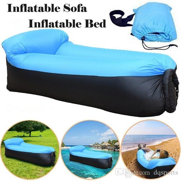 Trending Products Fast Light Infaltable Air Sofa Bed Sleeping Bag Ultralight Inflatable sofa Lazy bag Beach Sofa Laybag Air Bed