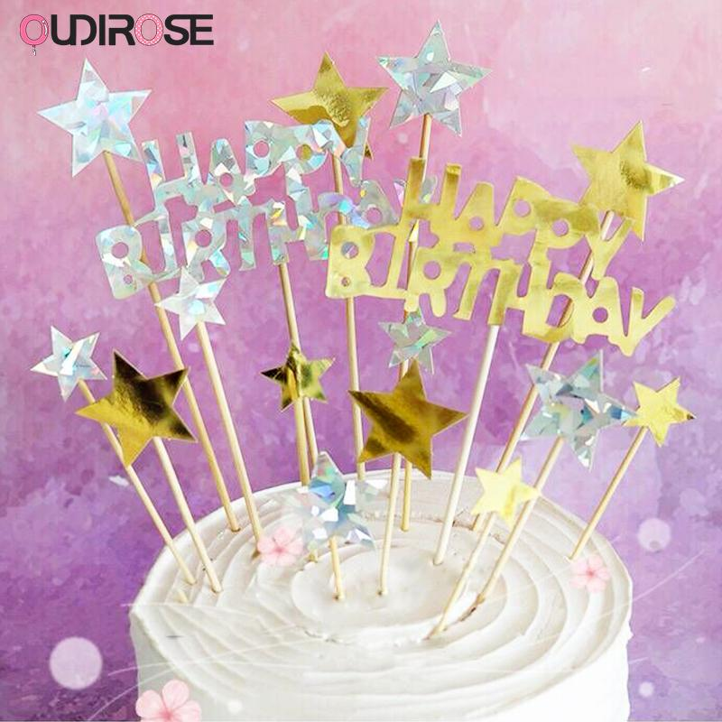 Birthday Decoration Girl Boy Cake Topper Happy Birthday Top Cake Topper For Baby Shower Wedding Unicorn Party Supplies