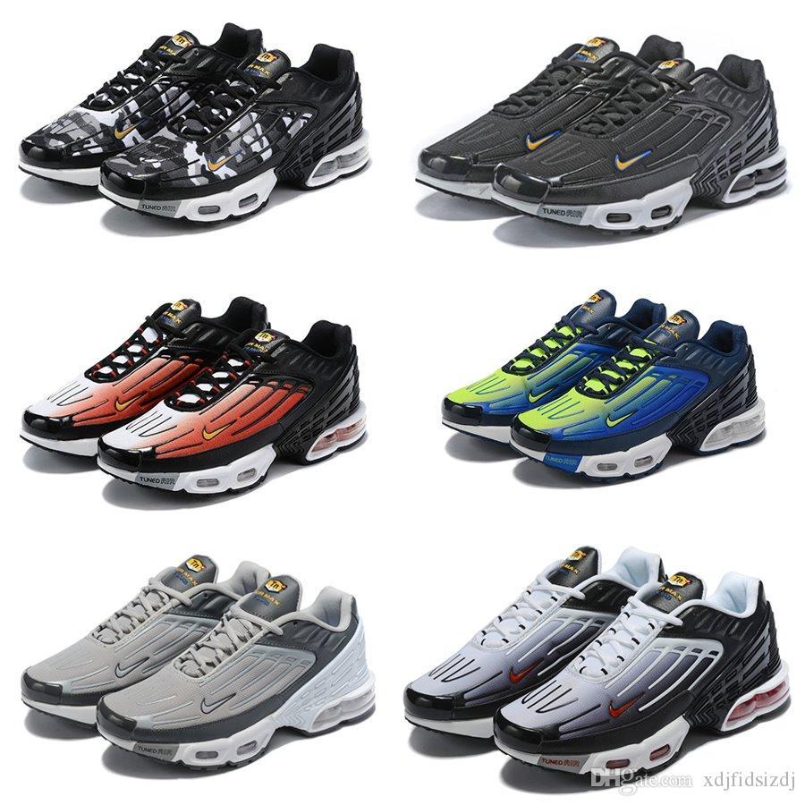 big sale 75dfa 1ea75 2019 New Designer Mercuial TN Plus OG Ultra SE Pack Mens Running Shoes Male  Greedy Sports Run Trainers Fashion Black White Women Sneakers