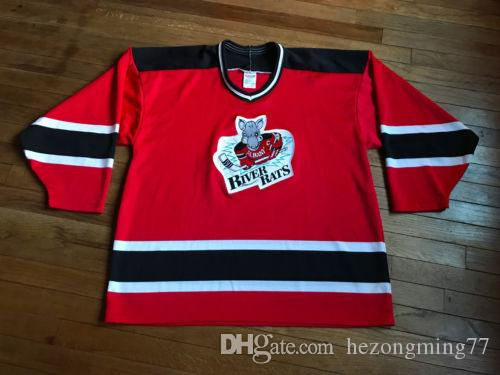 Vintage 90s Albany River Rats Ice Hockey Jersey Mens Embroidery Stitched  Customize any number and name Jerseys
