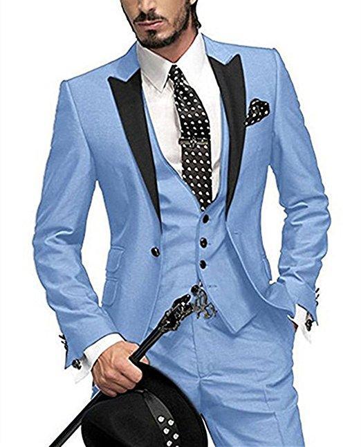 d5fae971c0ce Classic One Button Groomsmen Peak Lapel Groom Tuxedos Men Suits Wedding Prom  Best Man Blazer Jacket+Pants+Vest+Tie A13 Mens Summer Suits Mens Wedding  Suit ...