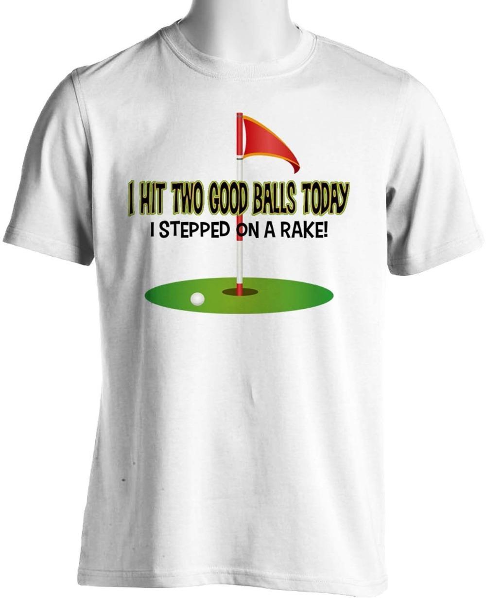 50e1911f Fashion Funny Tops Tees Funny Golfer Club T Shirt Hit Golfer Balls Humorous  Mens Cotton Tees T Shirt On Shirt Online Tee Shirts Shopping From Jie024,  ...