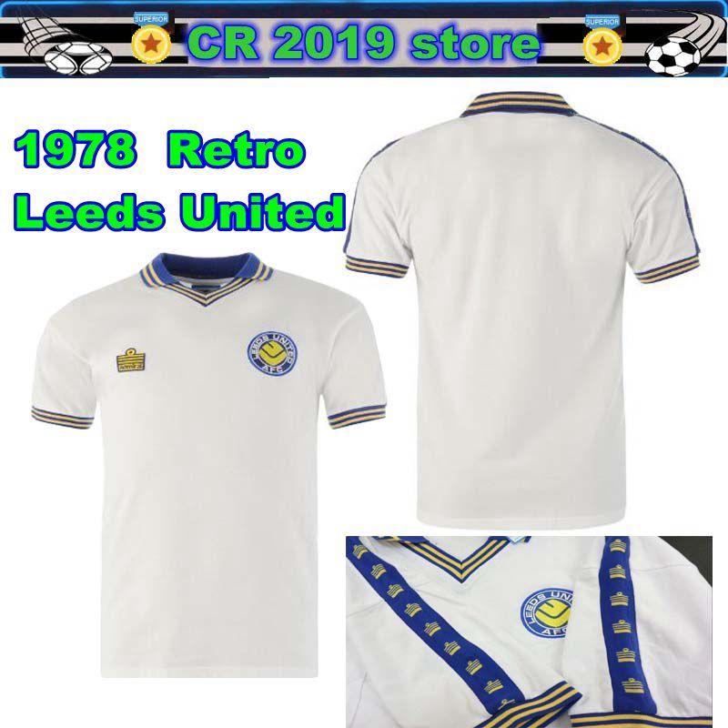 6f6e5959 2019 1978 Leeds United Retro Home AFC Official Soccer Gift Mens 1978 Retro  Home Kit Shirt Whiteb From Cr2019, $17.06 | DHgate.Com