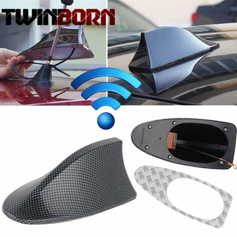 6 Colors Performance Car Shark Fin Roof Antenna Shark Fin Antenna Radio  FM/AM Decorate Aerial for BMW High Quality