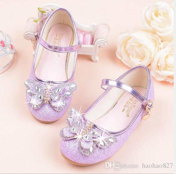eeb9a0b5c1 Children Baby Boy Girl Children Sequins Bowknot Dress casual shoes leather  Shoes for Girls Party and Wedding Single shoes