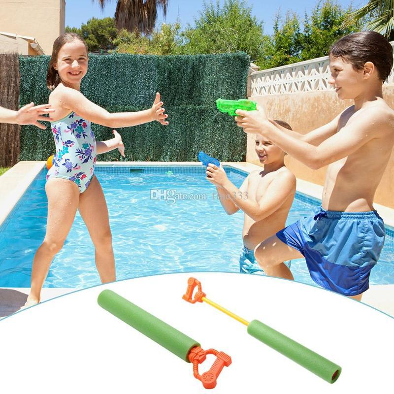 Kids Funny Water Toys Pull EVA Foam Water Gun Swimming Child's Play Water Pistol Kids Toys for Children Bath Swim Toy Beach Toy