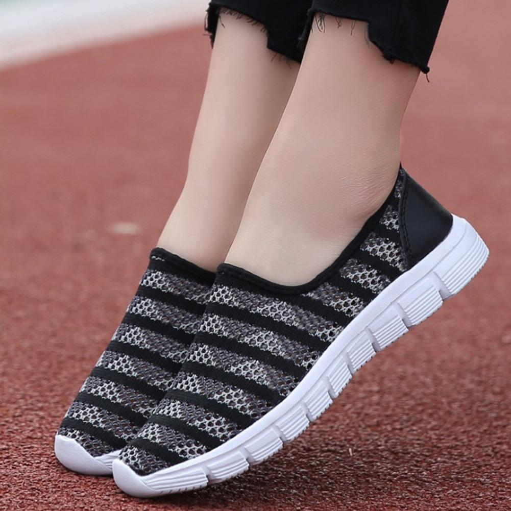 0047e06bb Compre 2019 Malha Respirável Sapatos Casuais Mulheres Moda Sapatos ...