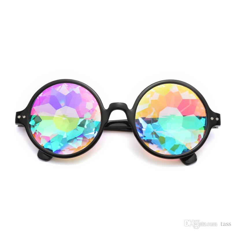 Mosaic Gradient Sunglasses Women UV400 Classic Vintage Plastic Kaleidoscope Eyewear Party Mosaic Fashion Sunglasses 3color