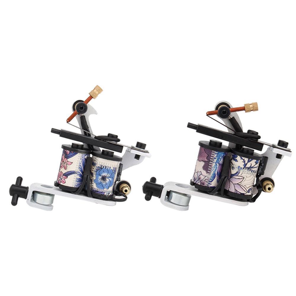 Anfänger Tattoo Kit 2 Spule Tattoo Maschine Gun Set Stromversorgung Body Art Werkzeug-Satz Tattoo Permanent Make-up für ein freies Verschiffen