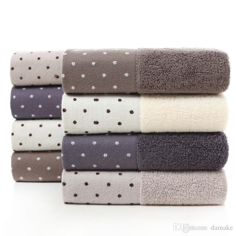 Cotton towel 32 shares Water absorption soft Wash your face towel Home Solid color Thicken towel factory wholesale
