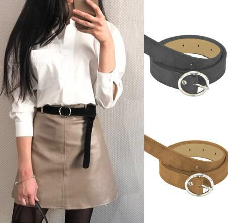 ce4fe3bc7af Women Vintage Chic Faux Suede Leather Belt Circle Buckles Belt Women  Accessories Bullet Belt Yellow Belt From Timelinerolling, $5.38| DHgate.Com