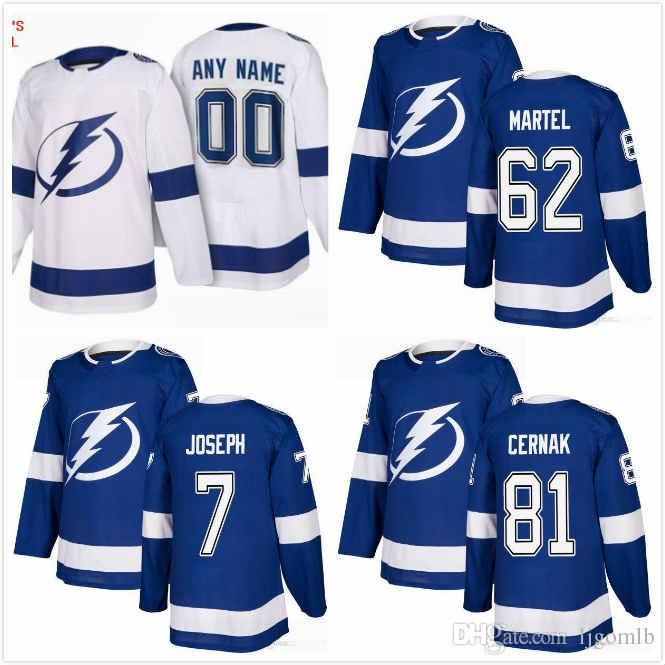 cdc3e774f 2019 Custom Tampa Bay Lightning Jersey Mathieu Joseph 7 Erik Cernak 81  Danick Martel 62 Mens Womens Ice Hockey Jerseys 2019 Stitched S 3XL From  Ljgomlb