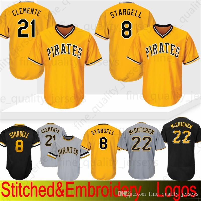 sale retailer 49db4 45bb4 21 Roberto Clemente Pittsburgh # Pirates Jersey 8 Stargell Majest 22 Andrew  6 Marte ic 27 Kent Tekulve 29 Francisco Cervelli 100% Stitched