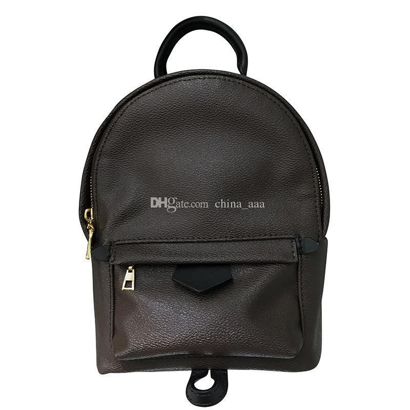 4249c729b1cf AAA высокое качество женская Palm Springs рюкзак из натуральной кожи дети рюкзаки  женщины / мужчины печать кожа мини рюкзак