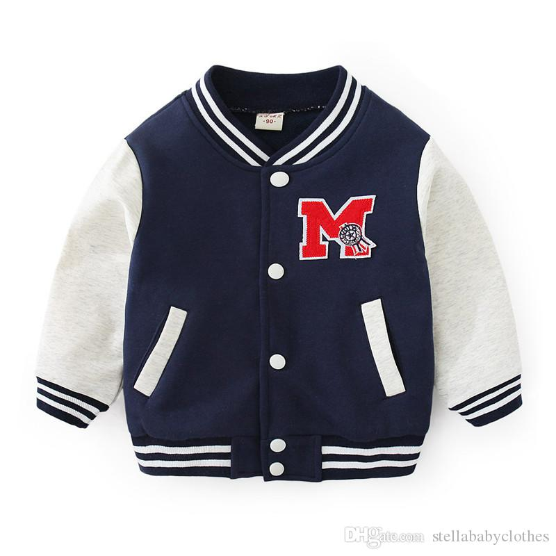 2019 new baby baseball shirt children's clothing baseball uniform spring and autumn wear boy cotton Korean casual jacket