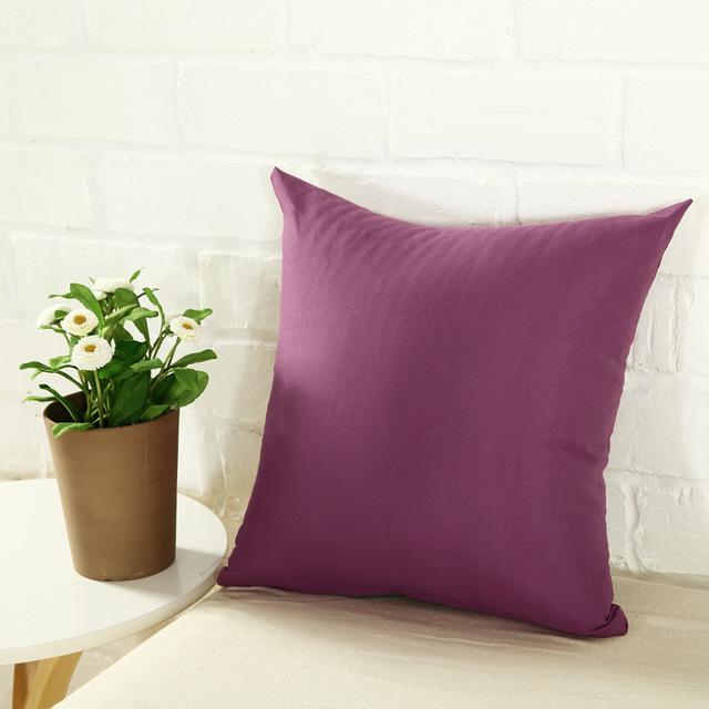 DHL Home Sofa Throw Pillowcase Pure Color Polyester White Pillow Cover Cushion Cover Decor Pillow Case Blank christmas Decor Gift