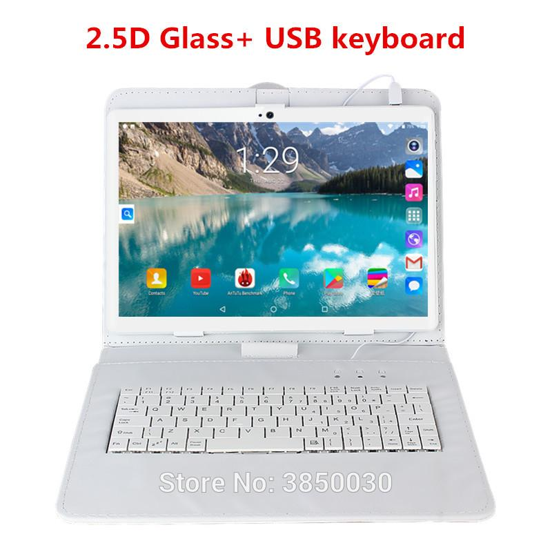 Free shipping 10 inch tablet PC Octa Core 6GB RAM 64GB ROM Android 9.0 WiFi Dual SIM Cards 3G 4G LTE Tablets + keyboard