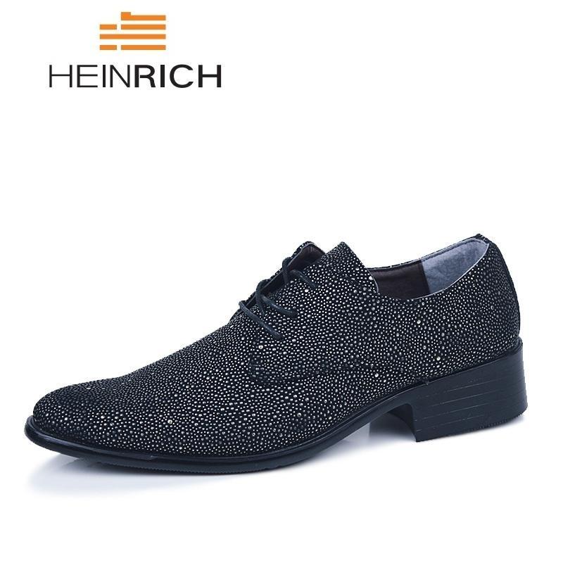 7750f9667ffe8 Compre HEINRICH Hombres Zapatos De Vestir De Cuero Marca De Lujo Para  Hombre Zapatos Formales Derby Hombres Calcados Masculino Chaussure Homme  Ville A ...