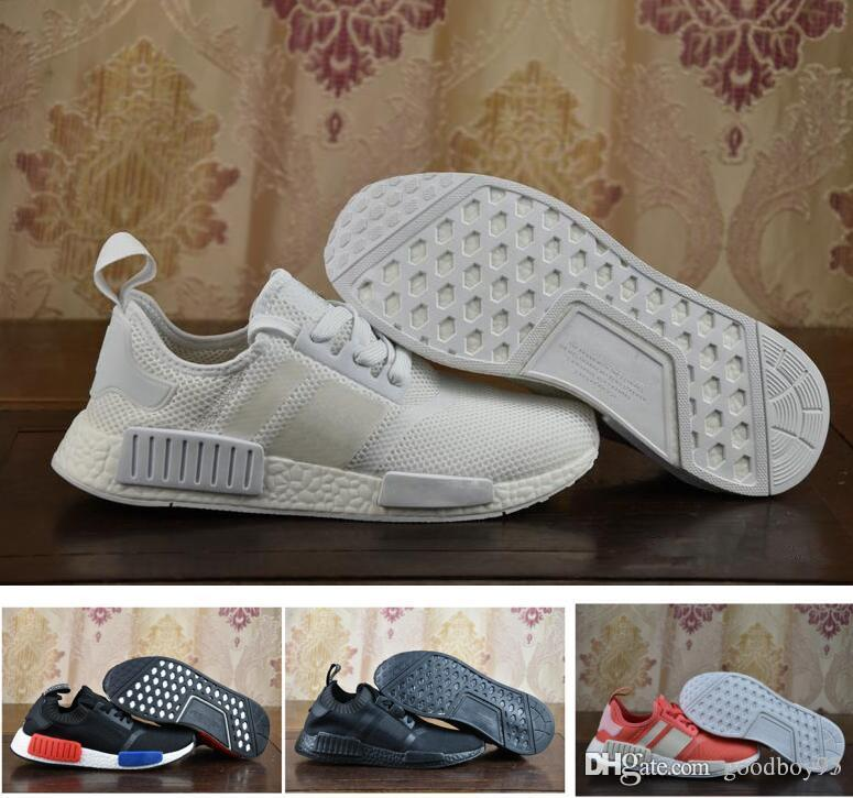 ... best place 1061d 72bfd Kids Shoes Boys Girls NMD R1 Baby Kids Shoes  White Black Red ... 8a91b87a34