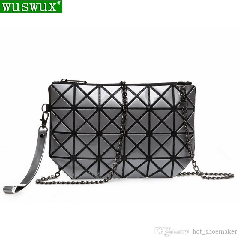 798774cf0265 women bag new fashion chain crossbody bag PVC geometric folding women  messenger bags casual travel ladies shoulder handbags #113057