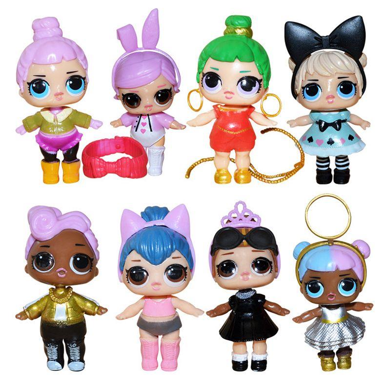 10 Set Dhl Lol Bambole Di Plastica Giocattoli Americani Kawaii Action Figure Del Fumetto Realistico Bambole Reborn Per Bambini 8 Pz Lotto 8 9 Cm
