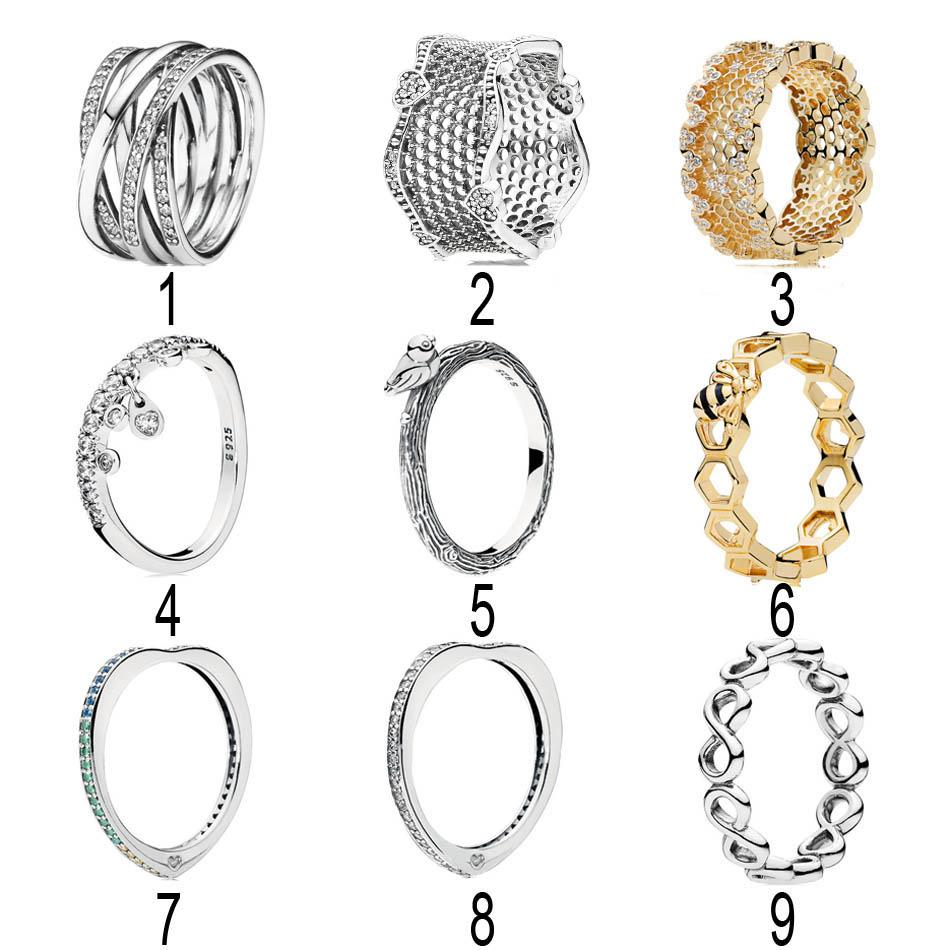 6ee10eb8c 925 Silver Honeycomb Lace Ring For Women Entwined Arc Of Love Spring Bird  Lace Of Love Ring Fit Pandora Jewelry Canada 2019 From Jinggongwedding, ...