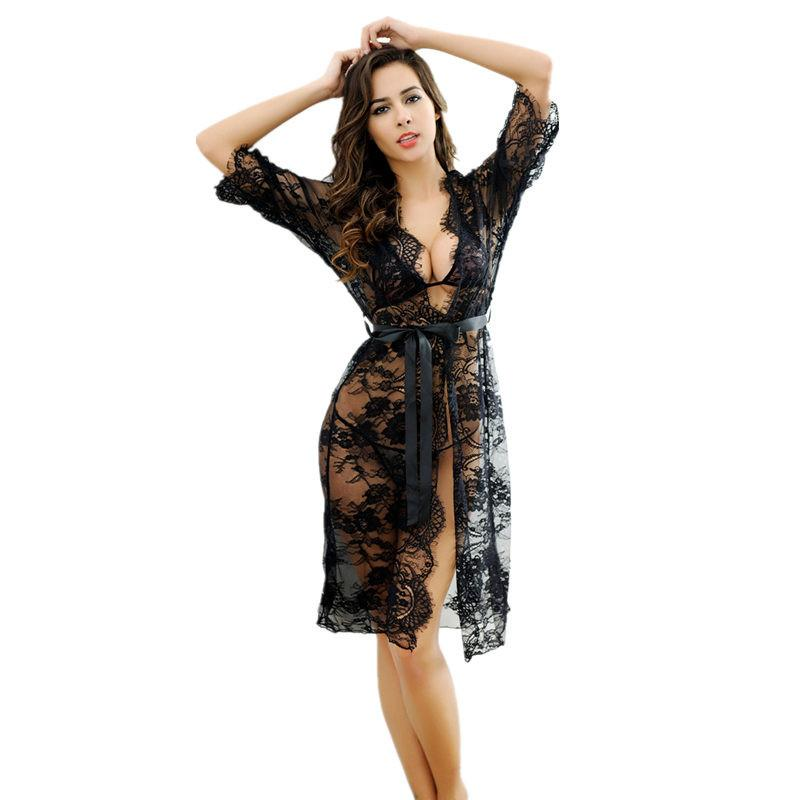 ad94c08969e Women Sexy Porn Lingerie Lace Transparent Sexy Night Dress Sleepwear Teddy  Lingerie Sexy Underwear Erotic Costumes Nightgown D18120802 Nightwear  Pyjamas ...