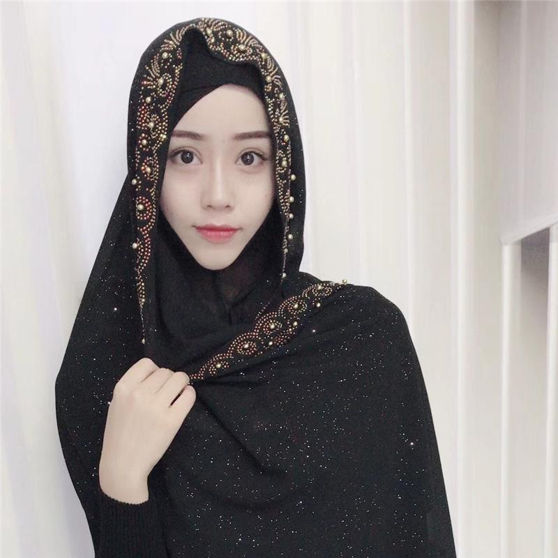 Großhandel Muslimische Kopftuch Islam Maske Hohe Qualität Starry
